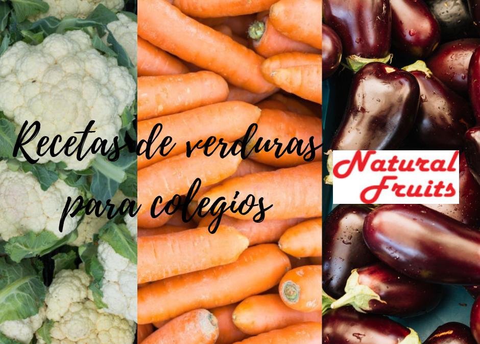 3 recetas con  verdura para menú de colegios